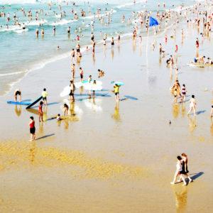 PLAGE - France (64) - Pyrenees Atlantiques - Biarritz - Plage et bord de mer a Biarritz